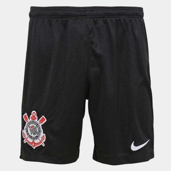 3e0a32624e Calção Corinthians I 19 20 Nike Masculino - Preto e Branco