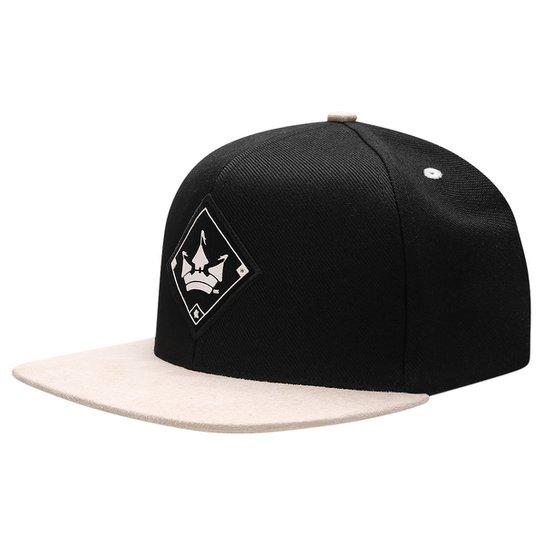 Boné Aba Reta Snapback Hoshwear Original - Preto e Branco - Compre ... 95bfedfe411