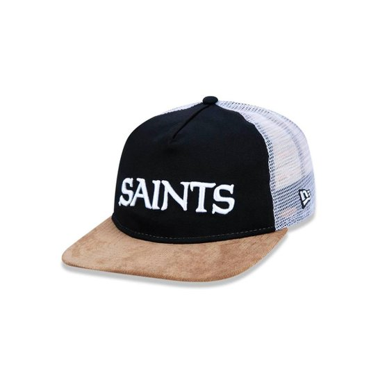 Boné 950 Original Fit New Orleans Saints NFL Aba Reta Snapback New Era -  Preto+ b4349640cb3