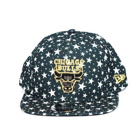 10d6bc0e715b5 Boné Chicago Bulls New Era 9fifty star - Preto e Branco - Compre ...