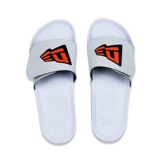 e3db211868f Chinelo Slide Com Velcro Branded Masculino - Cinza e Branco - Compre ...