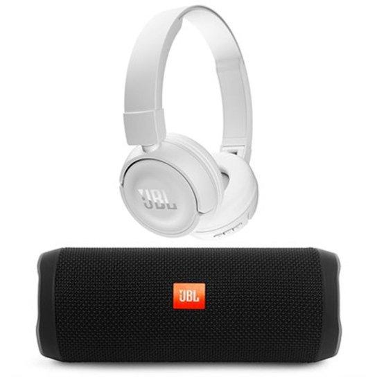 5b8e5e49807 Caixa Bluetooth Flip 4 16W e Fone de Ouvido Headphone T450BT - Preto+Branco