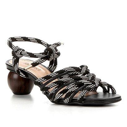 Sandália Shoestock Salto Baixo Redondo Feminina
