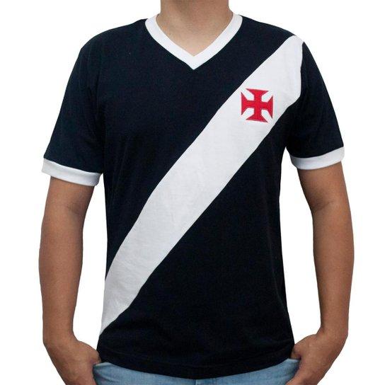 Camisa Retrô Mania Vasco da Gama 1948 Masculina - Preto e Branco ... 733451cce2f93