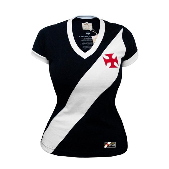 22dd9dbaafb4f Camisa Retrô Mania Vasco da Gama 1948 Feminina - Compre Agora