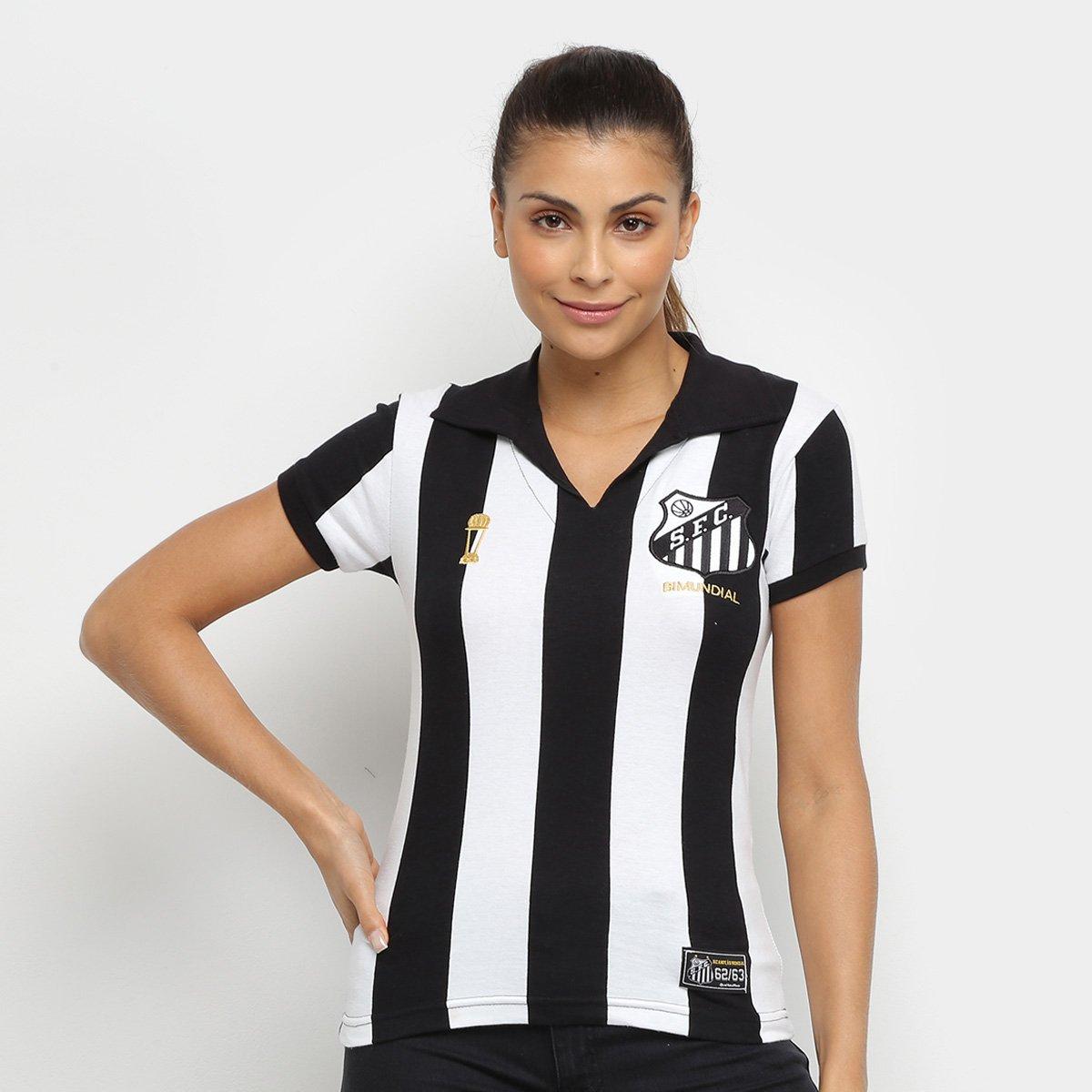 Camisa Santos 1963 Listrada Retrô Mania Feminina