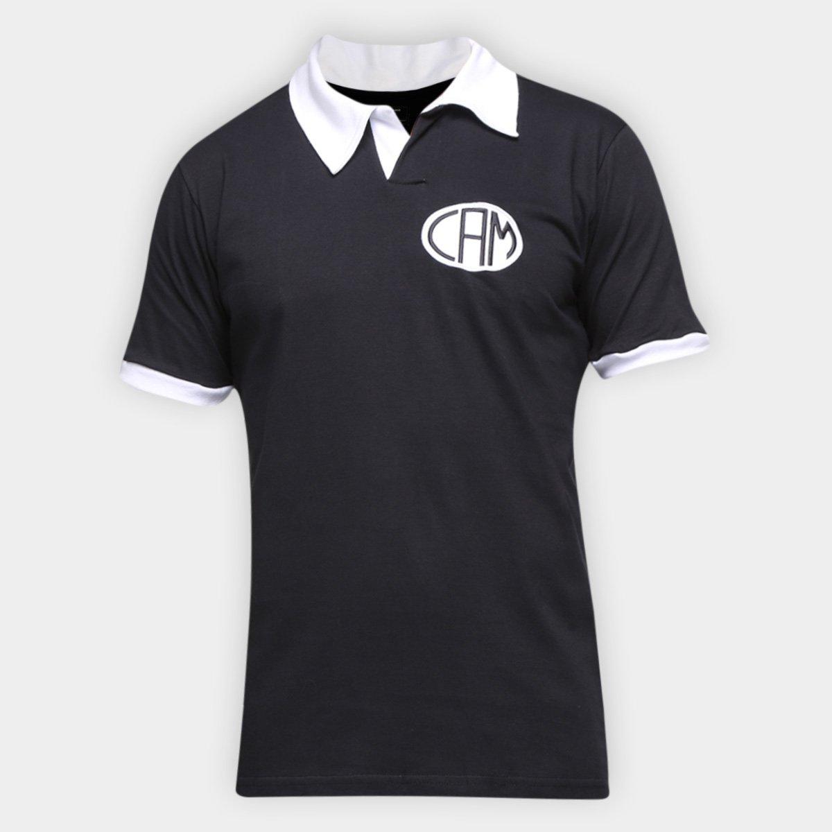 Camisa Polo Atlético Mineiro Design Retrô Mania Masculina