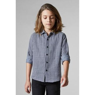 Camisa Infantil Double Face Vichy Reserva Mini Masculina
