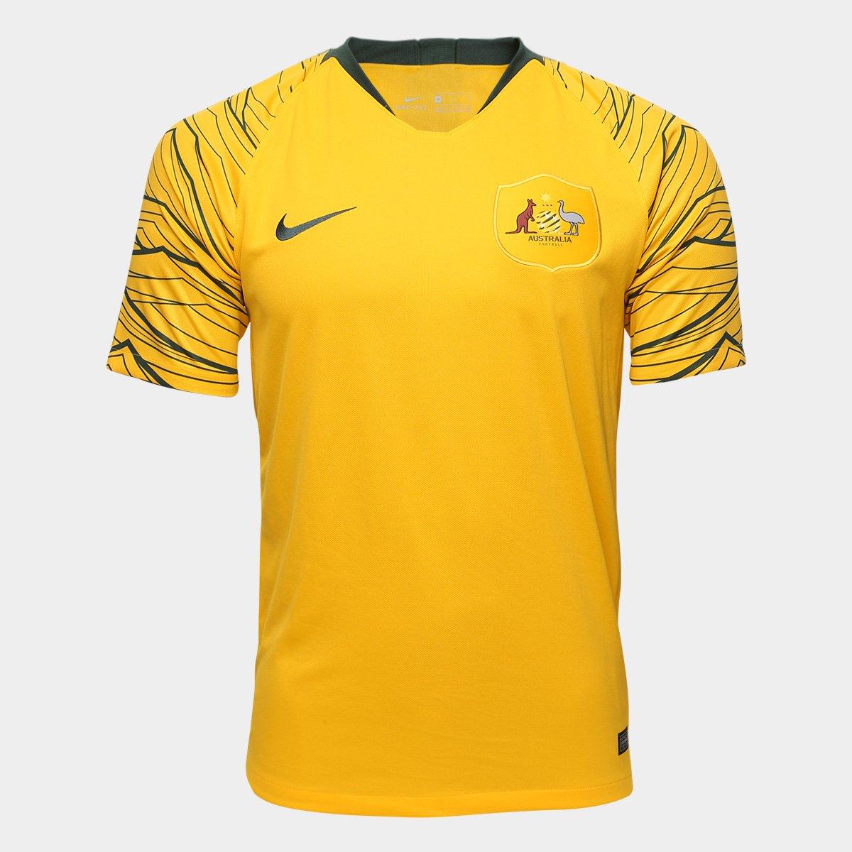 072a86e292 Camisa Seleção Austrália Home 2018 s n° Torcedor Nike Masculina