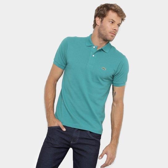 41b5c9e5c7c Camisa Polo Lacoste Original Fit Masculina - Azul Petróleo - Compre ...