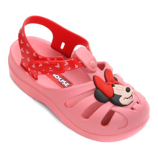 fc3e3f729 Sandália Infantil Grendene Minnie Soft - Rosa e Vermelho - Compre ...