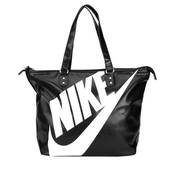 a7f46792d Bolsa Nike Heritage SI Tote - Branco+Preto