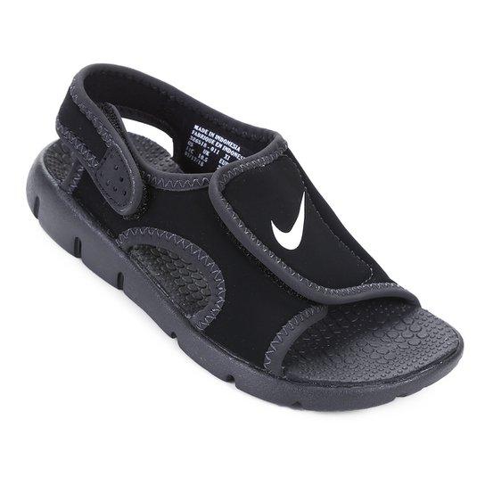 6aaab23f61 Sandália Nike Sunray Adjust 4 Juvenil - Preto e Branco   Netshoes
