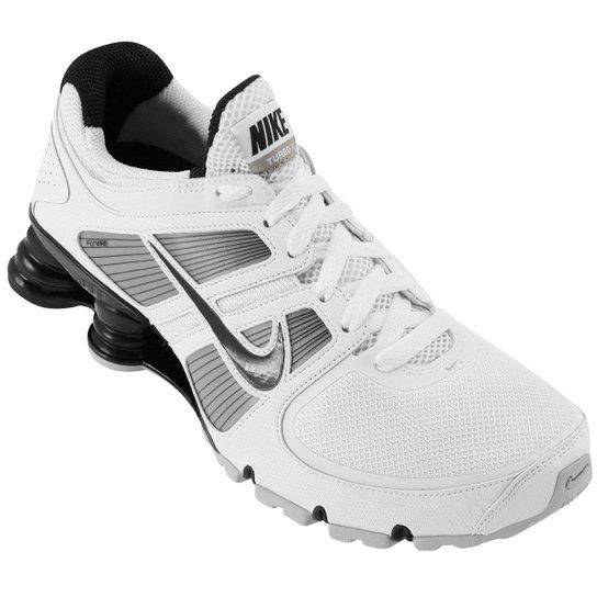 official photos 92f2d eaf3b Tênis Nike Shox Turbo+ 11 Masculino - Branco+Preto