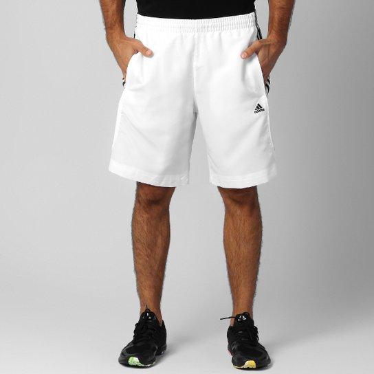 6ae5c1868 Bermuda Adidas 3S Ess - Branco+Preto