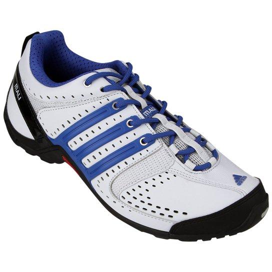 b5a57da7bf80b Tênis Adidas Mali 10 - Branco+Azul