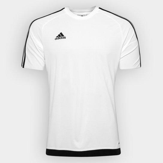 Camisa Adidas Estro 15 Masculina - Branco e Preto - Compre Agora ... f16ab40444b23