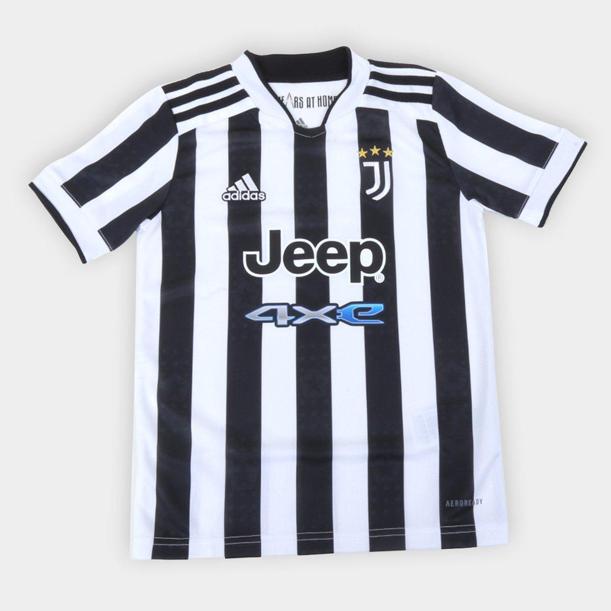Camisa Juventus Juvenil Home 21/22 s/n° Torcedor Adidas