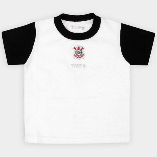 Camiseta Corinthians Infantil - Branco e Preto - Compre Agora  e13c6e89cab2f