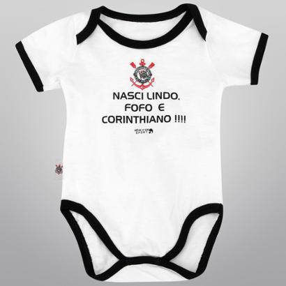 Body Infantil Corinthians Nasci Lindo