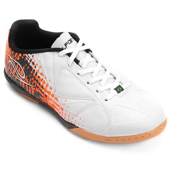 95a7683ef5 Chuteira Futsal Dalponte Audace Masculina - Branco+Laranja