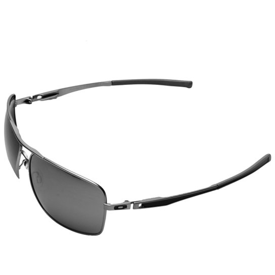 c2a9ddd40 Óculos Oakley Plaintiff Squared - Iridium - Prata+Preto