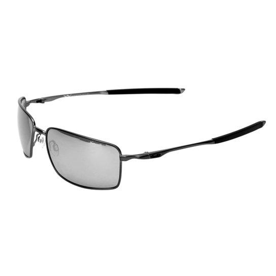 a261be2127 Óculos de Sol Oakley Square Wire Iridium - Cinza+Preto