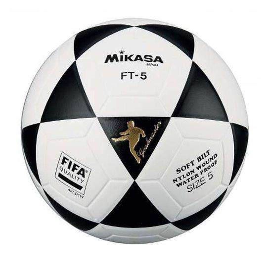 Bola Oficial de Futevôlei FT-5 Padrão FIFA Mikasa - Branco e Preto ... a56e811772b28
