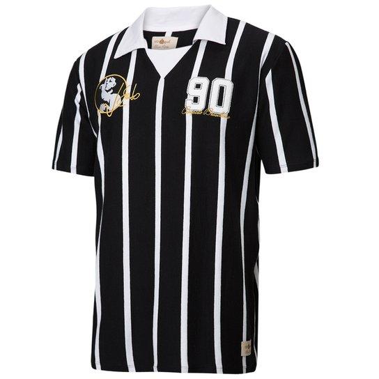 Camisa Retrô Gol Réplica Neto Ex - Corinthians 1990 Torcedor - Branco+Preto fef0fc5052dad