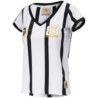 d4abe8c9b4 Camisa Baby Look Retrô Gol Away Sócrates Ex-Corinthians Feminina
