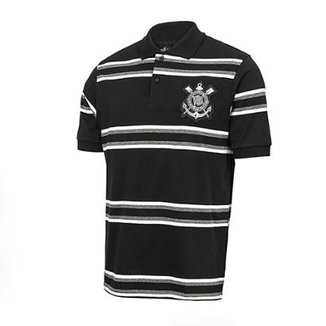 50b3633932f4b Camisa Polo Corinthians Platinum Listrada Masculina