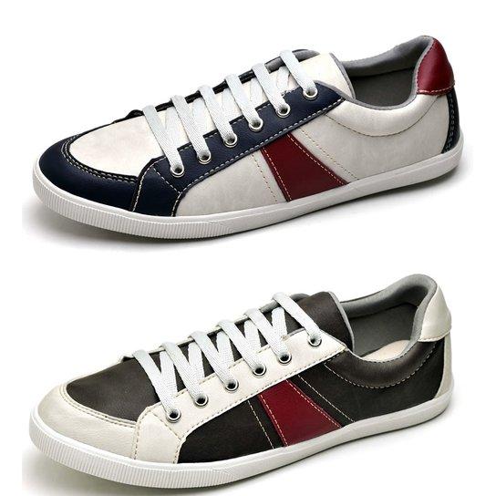 35ea12f6ec6 Kit Sapatênis Top Franca Shoes - Branco e Preto - Compre Agora ...