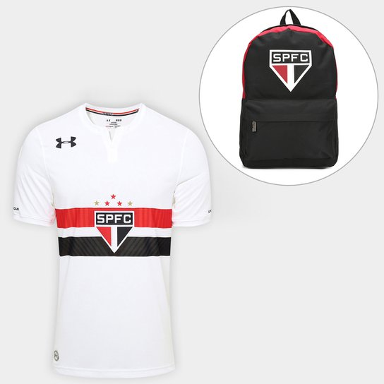 4eb9ca2ba58 Camisa São Paulo I 17 18 s nº Torcedor Under Armour Masculina + Mochila ...