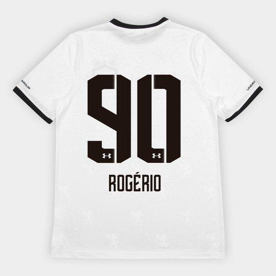 2e9cb9663f0 Camisa Sport Recife II 2018 Nº 90 Rogério - Torcedor Under Armour Masculina  - Branco+