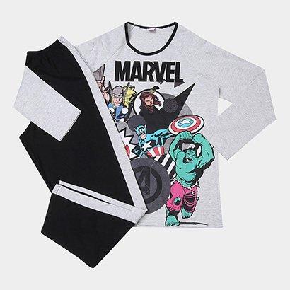 Pijama Infantil Evanilda Avengers Marvel Masculino