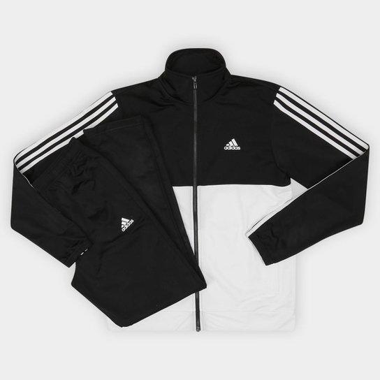 Agasalho Adidas Back 2 Basic 3S Masculino - Branco e Preto - Compre ... df013b412755b