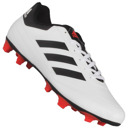 9dd95b9c14 Chuteira Adidas Goletto VI Fg - Branco e Preto - Compre Agora