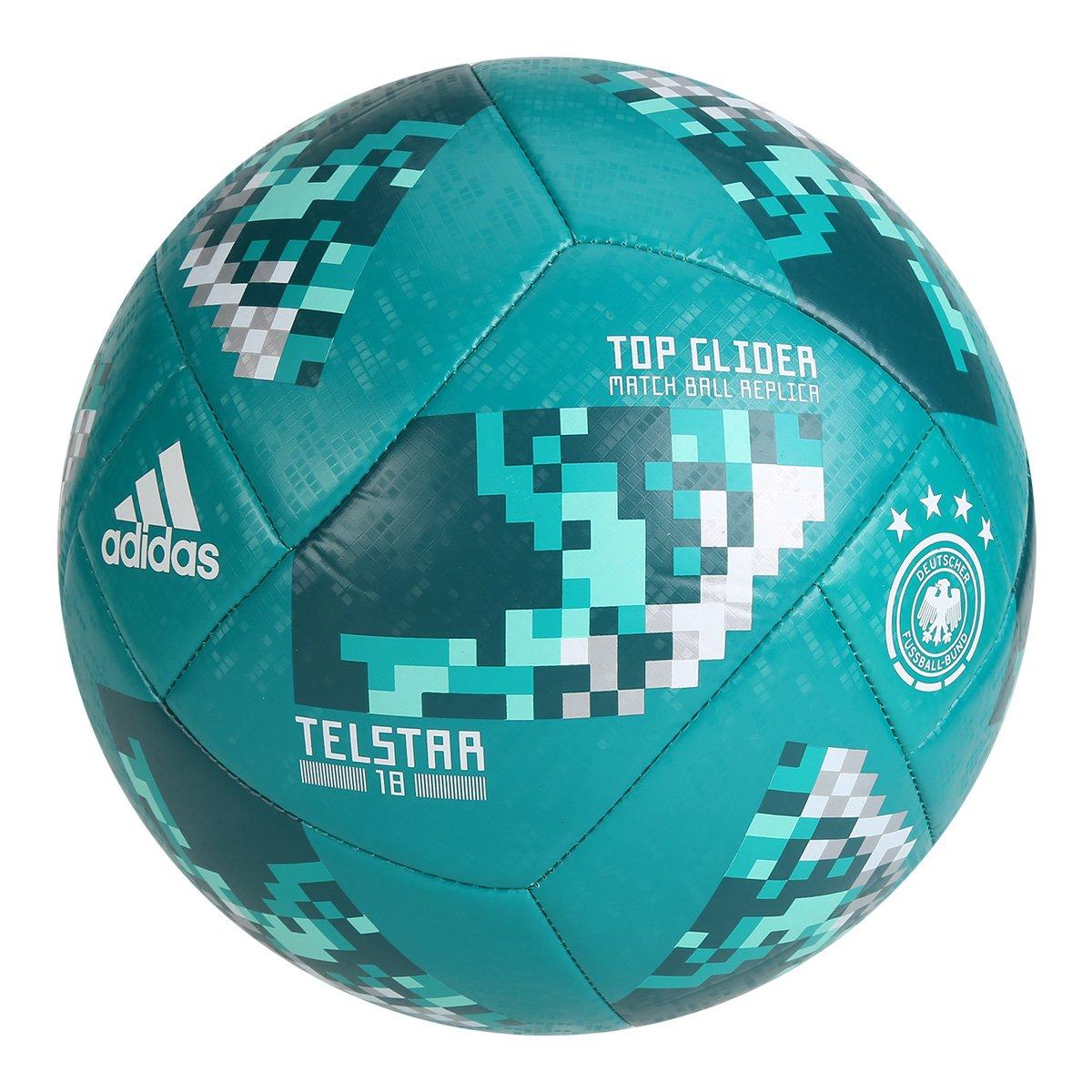 Bola Futebol Campo Adidas Alemanha TOP Glider Telstar 18 Copa do ... f9ed0f1409791