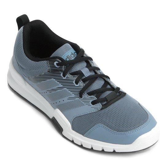 Tênis Adidas Essential Star 3 Masculino - Azul Claro e Preto ... 37fa96d8d0c78