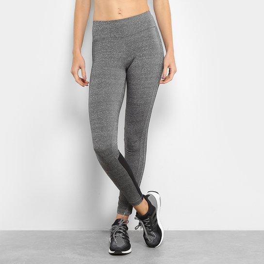 f810795ec7b Calça Legging Adidas M 3S Feminina - Cinza e Preto - Compre Agora ...