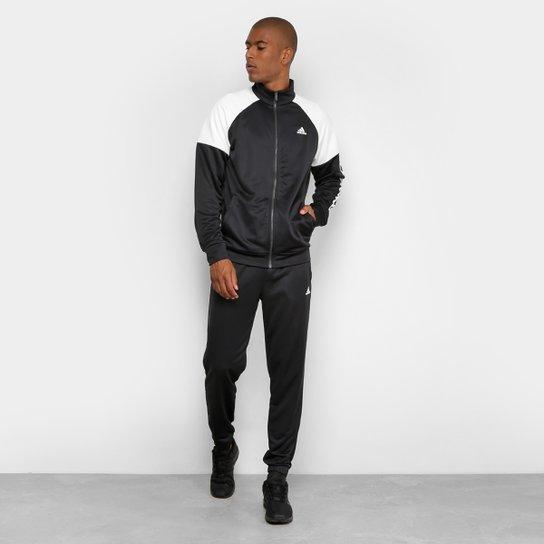 Agasalho Adidas Mts Pes Marker Masculino - Branco e Preto - Compre ... 698be94e7d280