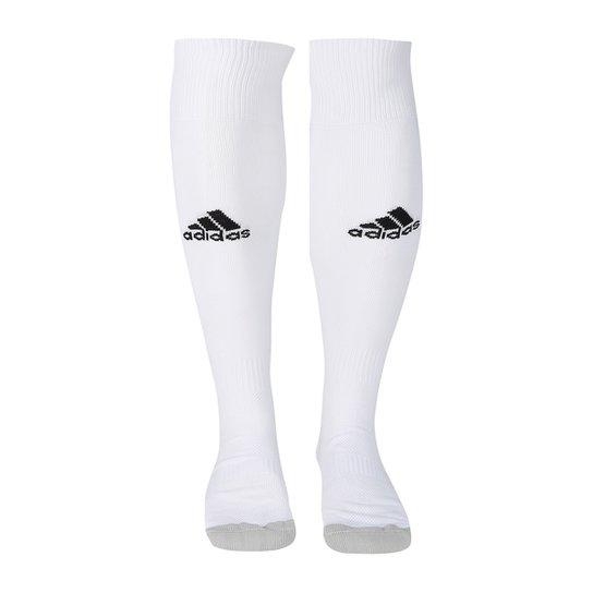 Meião Adidas Milano 16 - Branco e Preto - Compre Agora  9896d4a66648d