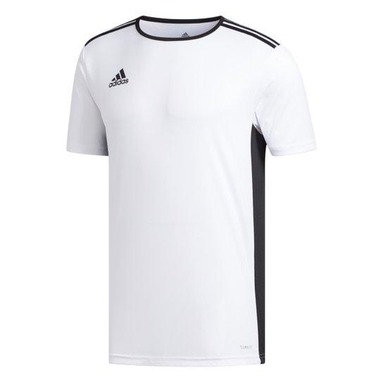 453e5ab36aceb Camiseta Adidas Entrada 18 Masculina - Branco e Preto - Compre Agora ...