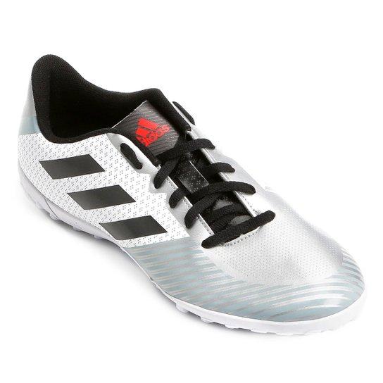 Chuteira Society Adidas Artilheira 18 TF - Branco e Preto - Compre ... ba1590281d0c5