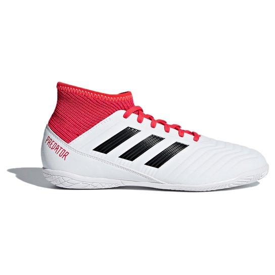 5a59449388858 Chuteira Futsal Infantil Adidas Predator 18.3 - Branco+Preto