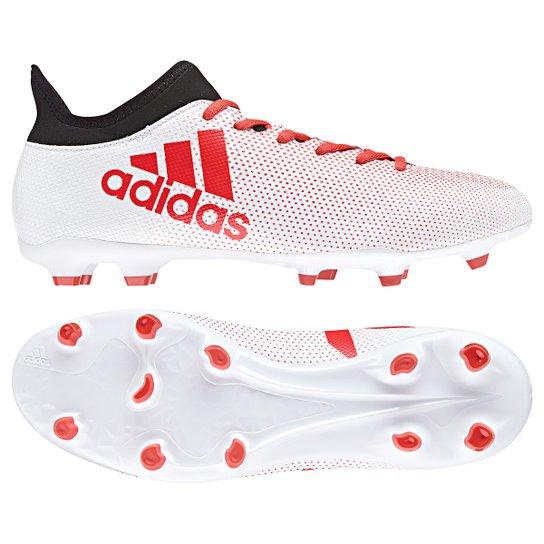 61709423760ad Chuteira Campo Adidas X 17.3 FXG - Branco+Vermelho. Loading.