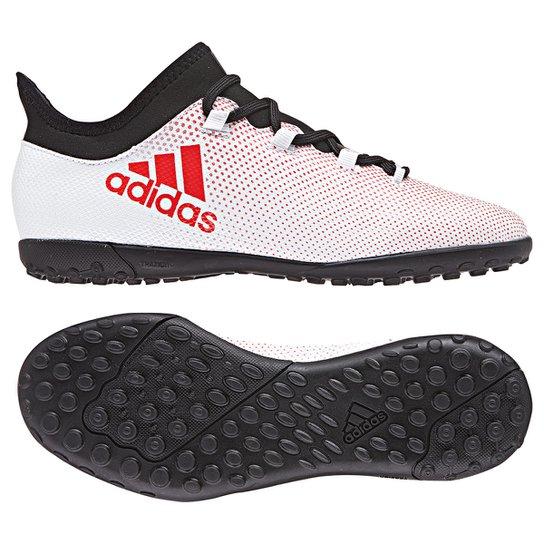 45a8028cef Chuteira Society Infantil Adidas X 17.3 TF - Cinza+Preto