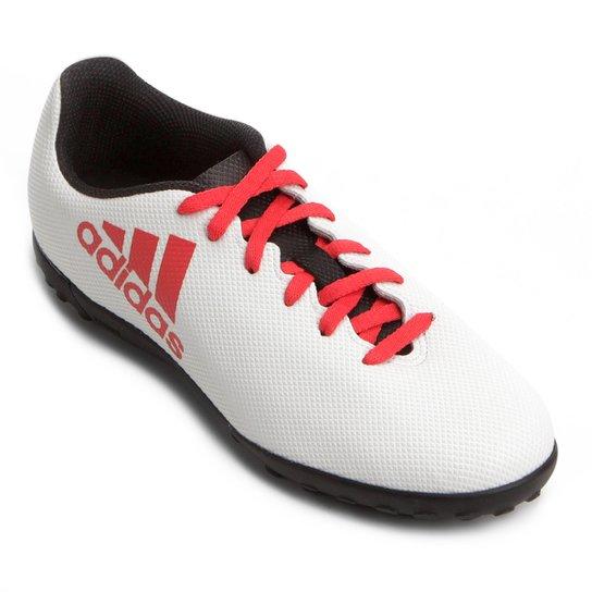 19650ea0dd Chuteira Society Infantil Adidas X 17.4 TF - Branco e Preto - Compre ...