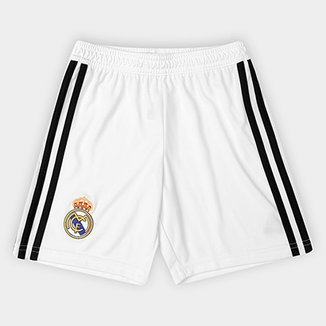 707fb7c59b9c9 Calção Real Madrid Infantil Home 2018 Adidas