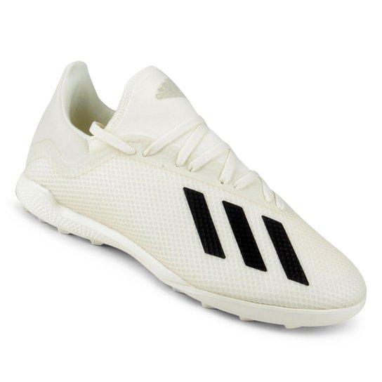Chuteira Society Adidas X Tango 18 3 TF - Branco e Preto - Compre ... ac96cc569996b